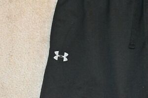 UNDER ARMOUR LOOSE Men's Soft Polyester Joggers Black Size Large