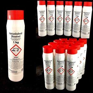 8,95-4,58€/Kg Natriumhydroxid Ätznatron 1 - 12kg Natron Entfetter Reiniger