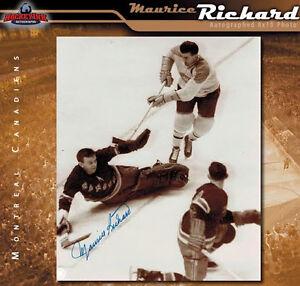 MAURICE RICHARD Signed Montreal Canadiens Black & White 8 x 10 Photo - 70494