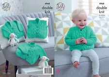 King Cole Baby DK Double Knitting Pattern Cabled Cardigans & Waistcoat 4968