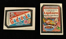 1973 TOPPS WACKY PACKAGES GADZOOKA BUBBLE GUM SERIES 2 WHITE STICKER & LIPTORN