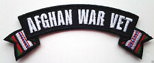 "'' AFGHAN WAR VET ""  Military Veteran Ribbon Rocker AFGHANISTAN Patch P3128 E"