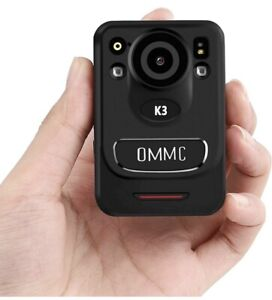 1440P HD Police Body Camera, OMMC K3 Mini Portable Body Camera with Night Vision