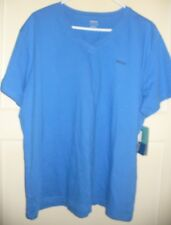 Reebok Womens Performance V Neck Shirt Top Size 2XL NWT Blue Relaxed Fit