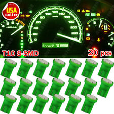 20X Green T10 Wedge W5W 2825 192 168 8-SMD LED Dashboard Instrument Panel Light
