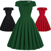 Belle Poque Vintage 50's 40s Swing Pinup Housewife Evening Party Dance TEA Dress