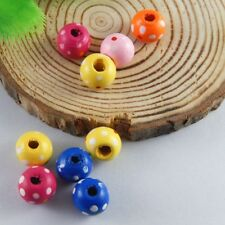 300pcs Multi Color Wood Beads Charm For Jewelry Bracelet Pendant Making 10*9*9mm