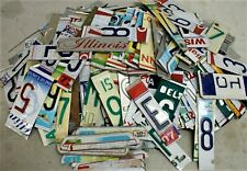 License Plate Letters Numbers Signs Mancave Garage Wall Art Crafts Decor Clocks