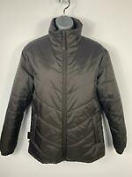 WOMENS MOUNTAIN ESSENTIALS DARK BROWN CASUAL ZIP UP PADDED WINTER JACKET SIZE 12