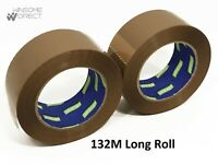 132m Long Buff Brown Dispenser Parcel Packaging Tape Carton Cardboard Box