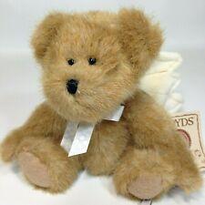 """Boyds Bears AngelBear Plush Brown Teddy HB Heirloom 2007 Angel Wings Mini 5.5"""""""