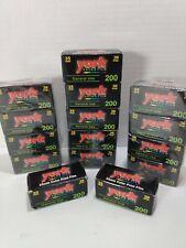 HUGE Lot Of 15 York Color Film 35mm 35exp 200 Colors!!