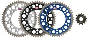 13//48 BLUE Yamaha WR450F YZ450F Renthal Grooved Front /& Ultralight Rear Sprockets Kit