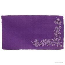 "Western Saddle Blanket -  Purple Wool - Designer Silver Dots - Size  34""x38"""