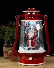 Christmas Snowing Santa Lantern with Music White LEDs Indoor Hanging Chain