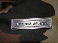 Agrafe TROUPES ALPINES pour médaille ordonnance militaire armée Française
