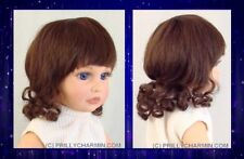 YVETTE Doll Wig - Size 10 BROWN with curls - New Wig, NIP - WS10