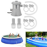 1 Set Electric Swimming Pool Filter Pump Above Ground Pools Cleaning Paddling
