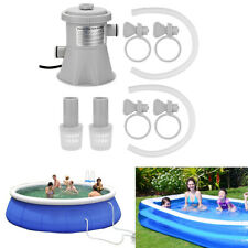 Electric Swimming Pool Filter Pump Above Ground Pools Cleaning Paddling, EU Plug