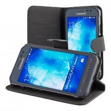 Samsung Galaxy Xcover 4 Custodia a Portafoglio Protettiva Nero + Vetro Temperato