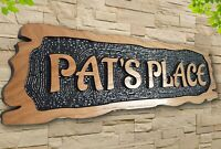 Personalised Carved  House Wooden Oak/Pine Sign Address Name Plaque Outdoor