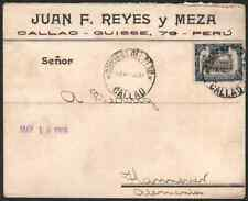 Peru 1909 cover/1905 Municipal Hygiene Institute 12c