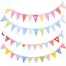 Colorful Banners Wedding Party Decor DIY Paperboard Flag Birthday Party Supplie