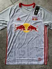 Adidas New York Red Bulls Home Soccer Kit Jersey 2020 Grey Red Men Large Ge5914
