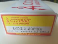 Accurail HO 50' Single Door Riveted-Side Boxcar kit Bangor & Aroostook #5033