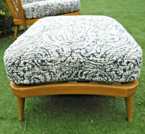 ERCOL BLONDE 341 FOOTSTOOL- NEW WEBBING  & COVERS- ASSIST COURIER