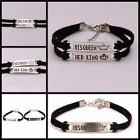 Pop Couples Bracelets for Women Men Her King and His Queen Bracelet Jewelry AU