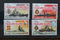 Falkland Islands 1974 35th Anniversary of Battle of the River Plate set MNH