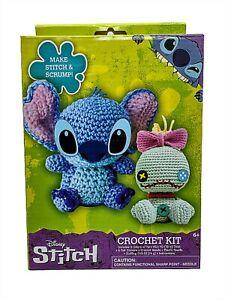 Disney Crochet Kit Lilo And Stitch Scrump Yarn Needle Felt Stuffing New 10346