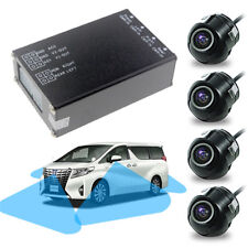 360° Full View Auto Car Parking System 4 Camera Kit Screen Multiplexer Universal