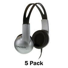 5 Pack Koss UR-10 Closed-ear Adjustable Stereo Headphones (UR/10)
