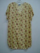 USA Made Nancy King Lingerie Sleepshirt Gown PJ Size Small Yellow Multi #440N