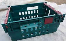 5 x PLASTIC STRONG STACKABLE STORAGE TRAYS, BOXES, CONTAINERS CRATES 300x400x190