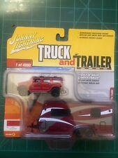 2004 Hummer H2 Red W/ Camper Trailer 1/64 By Johnny Lightning