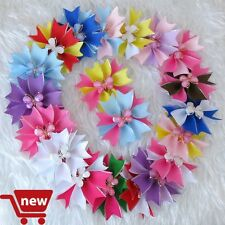 "50 Good Girl Baby 3.5"" Butterfly Fairy Wing Hair Bow Clip Spring Easter 28 No."