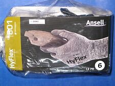 ANSELL  HYFLEX  11-801  NITRILE  FOAM  COATED  PALM  GLOVES  12  PAIR  SIZE-6