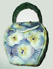 Unique Hand-crafted Crystals Encrusted Small Floral Purses Cross-body Hand Bags
