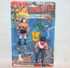 Wrestling figures Wrestle Federation KO MOC snake wwf bootleg action toys sealed