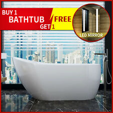 "Bathroom Acrylic Standing Bath Tub ""Thin Edge"" 1500x700x600 Freestanding"