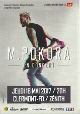 FLYER PLV - MATT M. POKORA EN CONCERT LIVE 2017 ZENITH AUVERGNE CLERMONT FERRAND