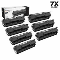 LD 7PK Comp Black Laser Toner Cartridge for HP 12A Q2612A LaserJet 3050 3052