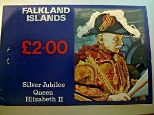 FALKLAND ISLANDS SILVER JUBILEE BOOKLET 254-256A MNH CAT $ 21.50