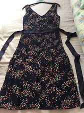 MONSOON Navy Floral Summer Dress Size 8 ** BNWOT**  RRP £125
