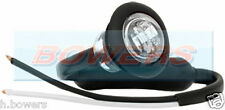 "12V/24V FRONT WHITE/CLEAR SMALL 1"" ROUND LED BUTTON MARKER LAMP/LIGHT UNIVERSAL"