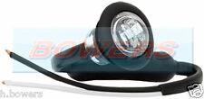 "12V/24V FRONT WHITE/CLEAR SMALL 1"" ROUND LED BUTTON MARKER LAMP/LIGHT UNIVERSAL"