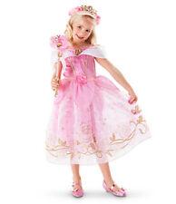 Disney Princess Belle Cinderella Dress Up Girls Kids Party Fancy Costume Cosplay
